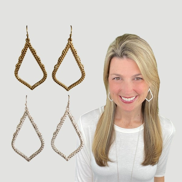 Designer Inspired Medallion Drop Earrings