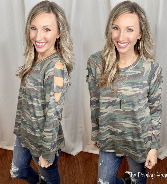Zesty Camo Top