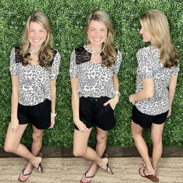 For The Love Of Leopard Top