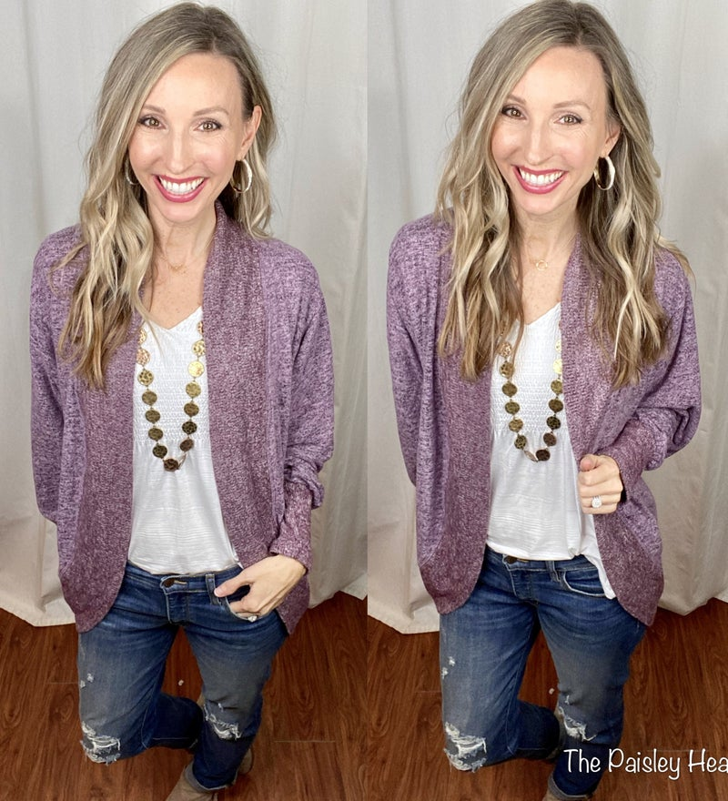 LIMITED: Vail Visits Hacci Brushed Cardigan