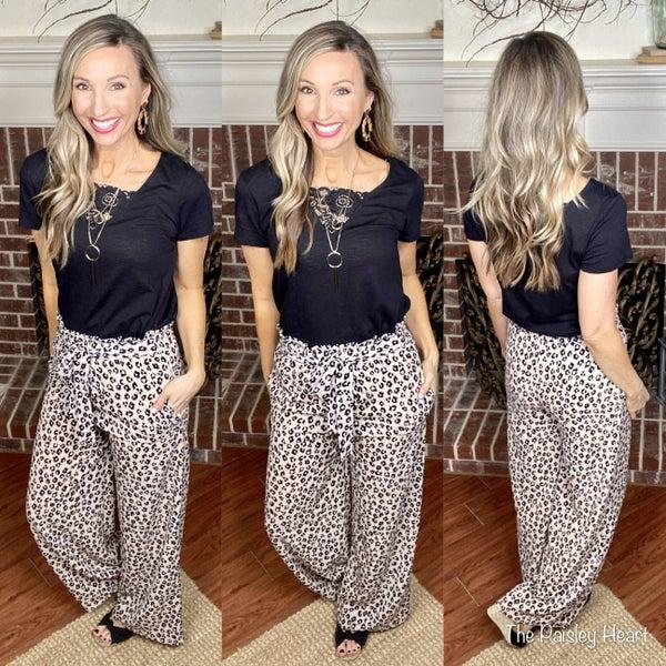 Leopard Paperbag Pants