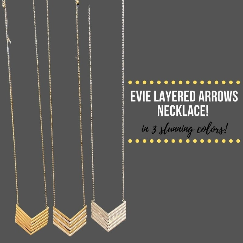 Evie Layered Arrows Necklace