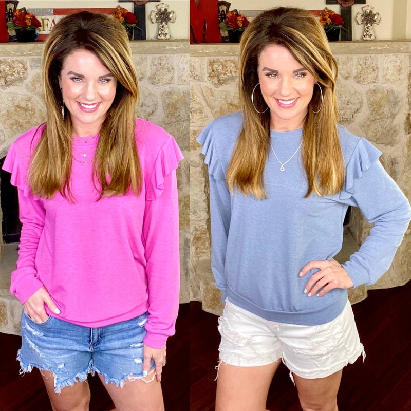 Covered In Spring Cozy Top: 2 Colors!