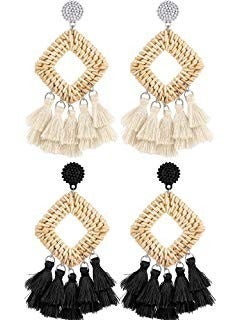 Bohemian Tassel Statement Earrings