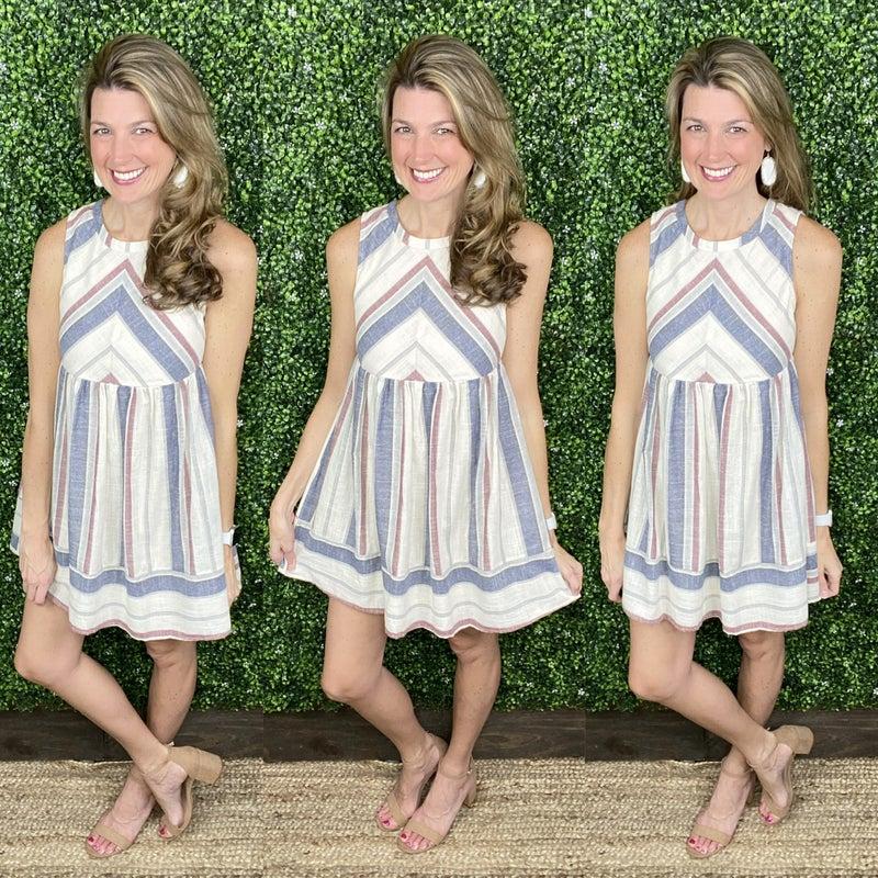 Savanna Striped Dress - LIMITED!