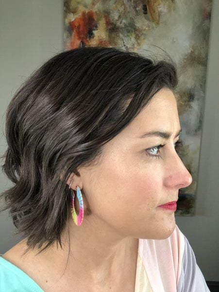 Colorful Raffia Pastel Earrings
