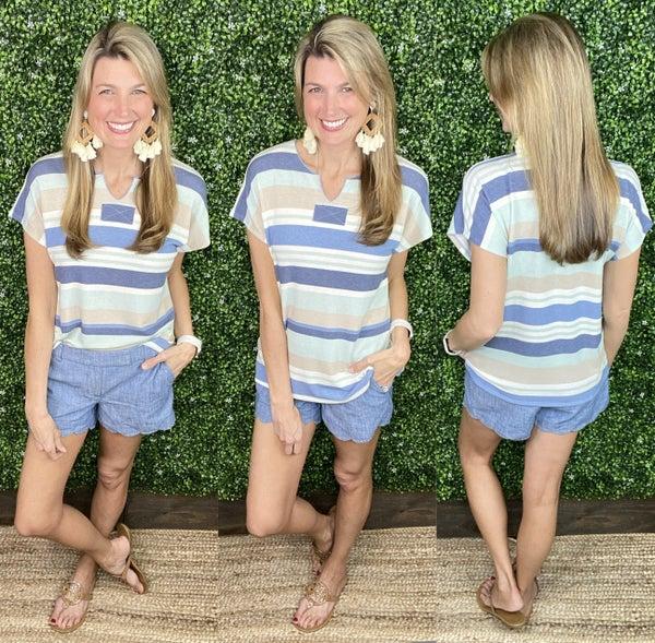 Stripes & Sunshine Top: 2 Color Choices!