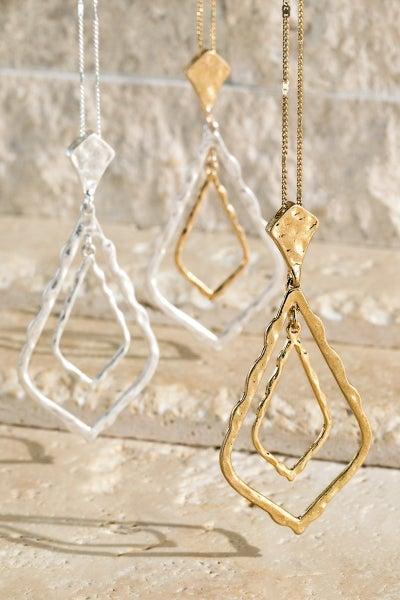 BEST SELLER - Hammered Metal Necklace - LMTD STOCK!