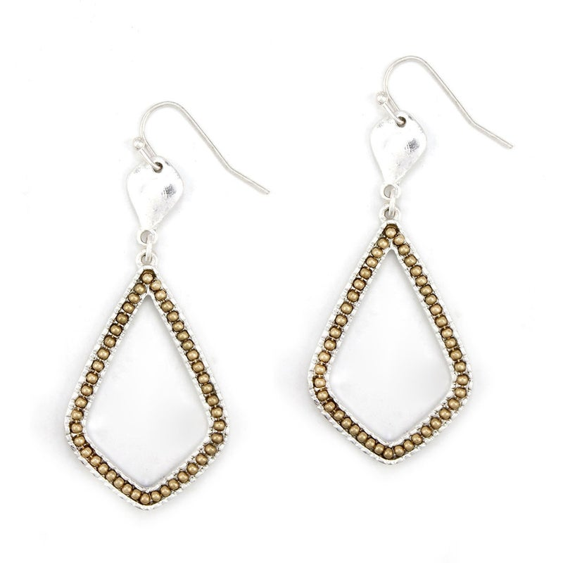 Designer Inspired Two Toned Earrings