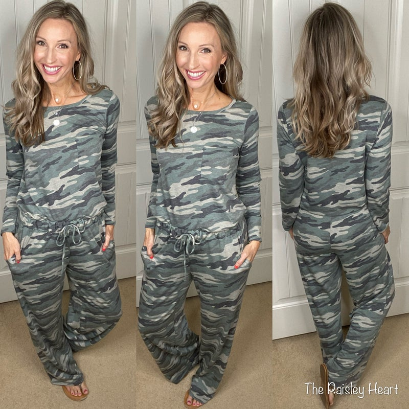 Camo French Terry Pants