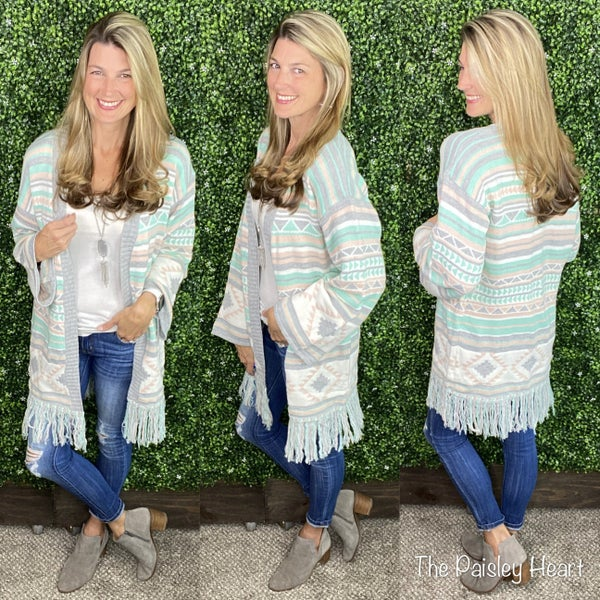 Take It To Heart Aztec Cardigan