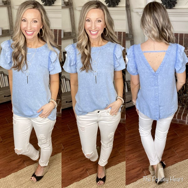 Midtown Chambray Top