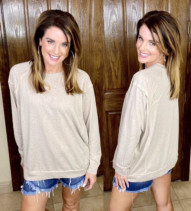 Vintage Soft Solid Pullover