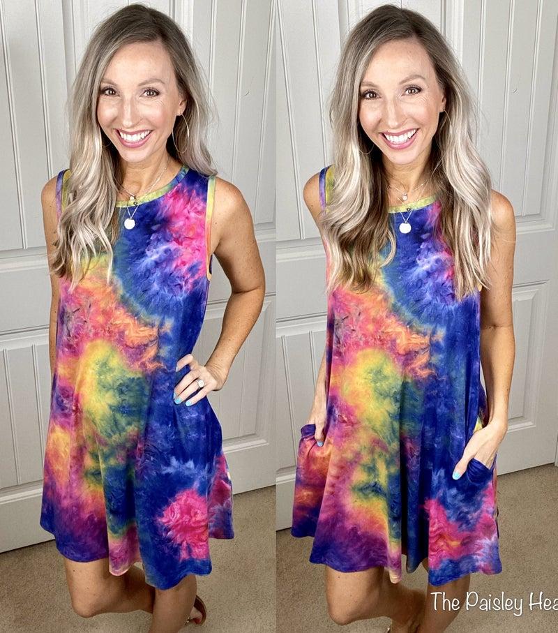 Happy Soul Tie Dye Shifter Dress