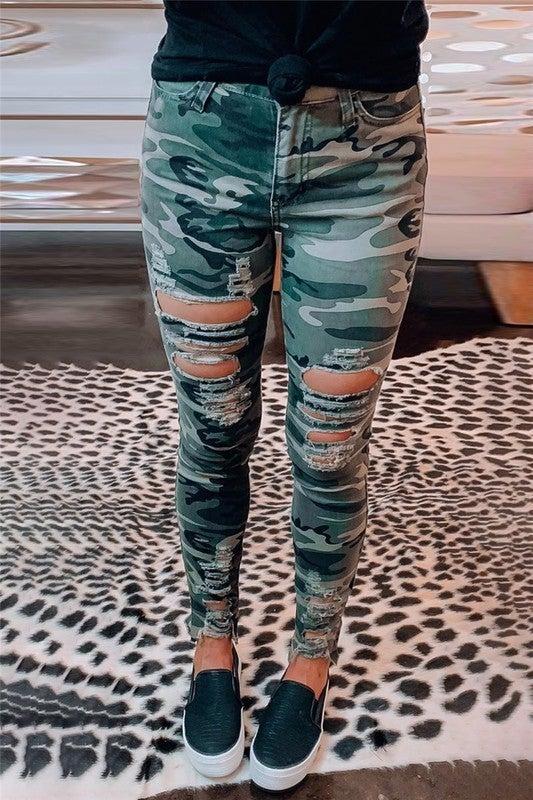 Camo Cut Jeans