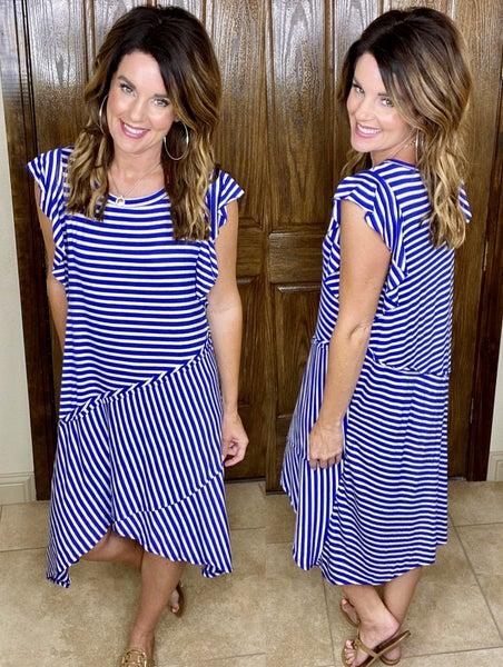 Beauty in Blue Stripes