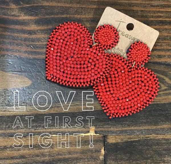 Stealin' Hearts Statement Earrings