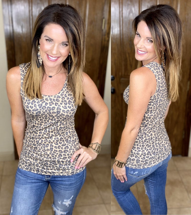 Easy Fit Tank - Leopard