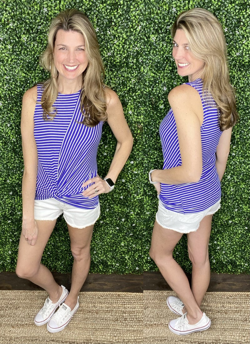 Striped Right Tank - 5 Color Options!