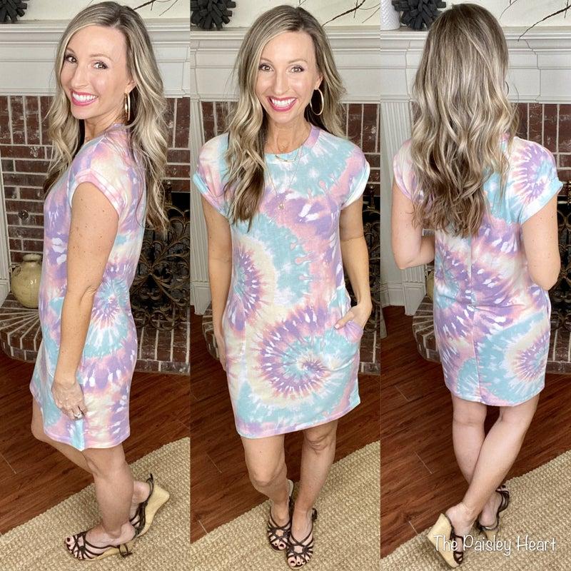Serene Dreams Tie Dye Dress