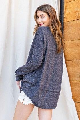 Hacci V-Neck Pullover