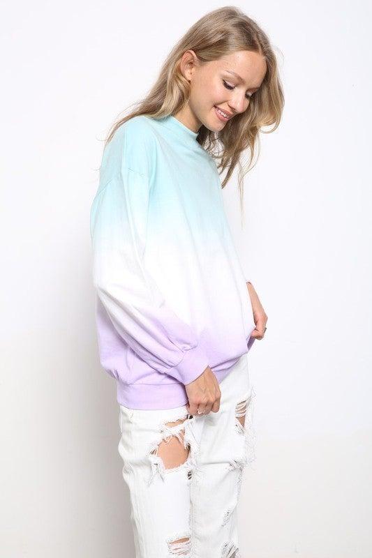 Ombre Tones Lightweight Sweatshirt
