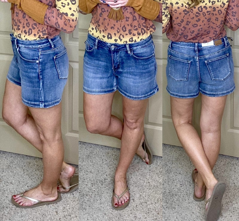 Warmer Days Judy Blue Denim Shorts