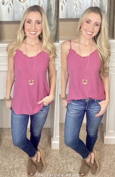 LuLu Frayed Top