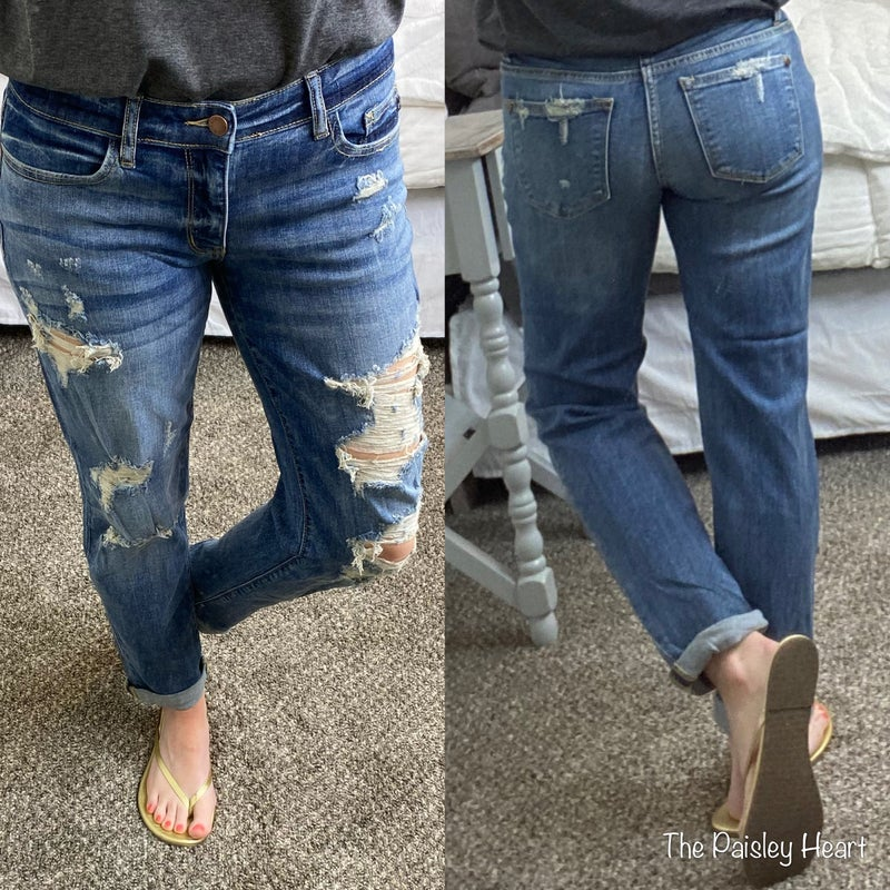 Judy Blue Distressed Relaxed Jeans