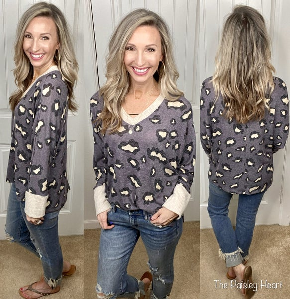 Casual Me Leopard Top