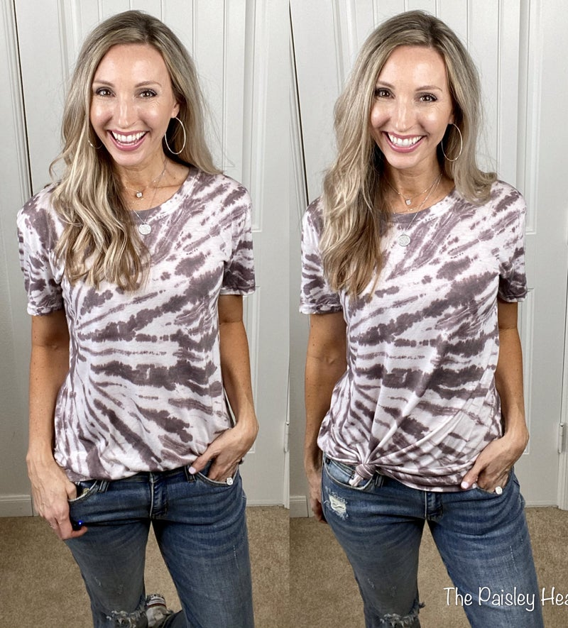 Mazey Hand Dipped Tie Dye Top