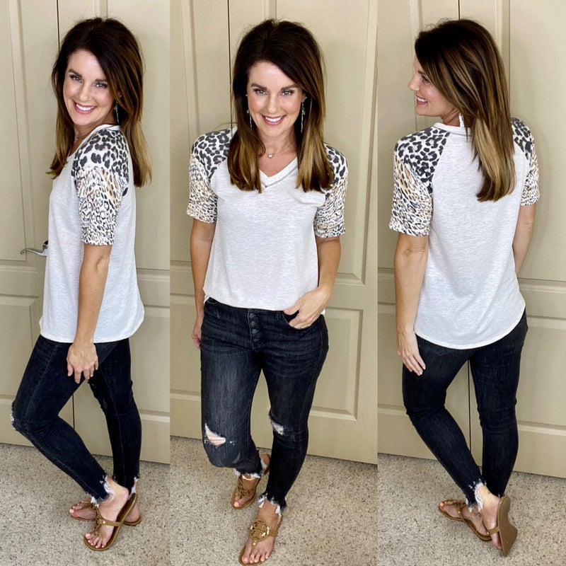 Pops of Wild V-Neck Top - LIMITED STOCK!