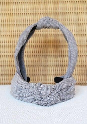 Corduroy Top Knot Headband: LIMITED