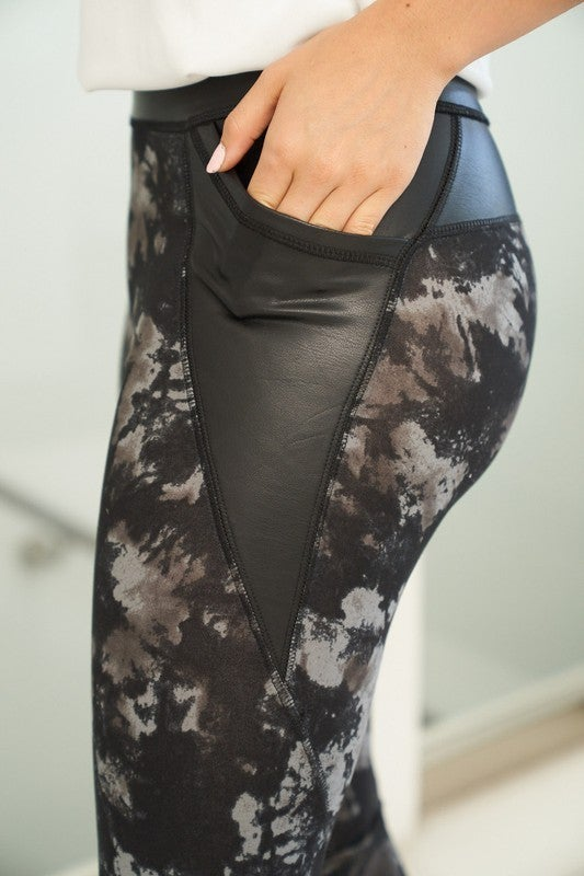 Contrast Abstract Leggings