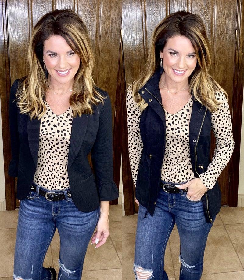 Love It In Leopard Bodysuit