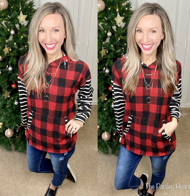 Holiday Stripes Pullover