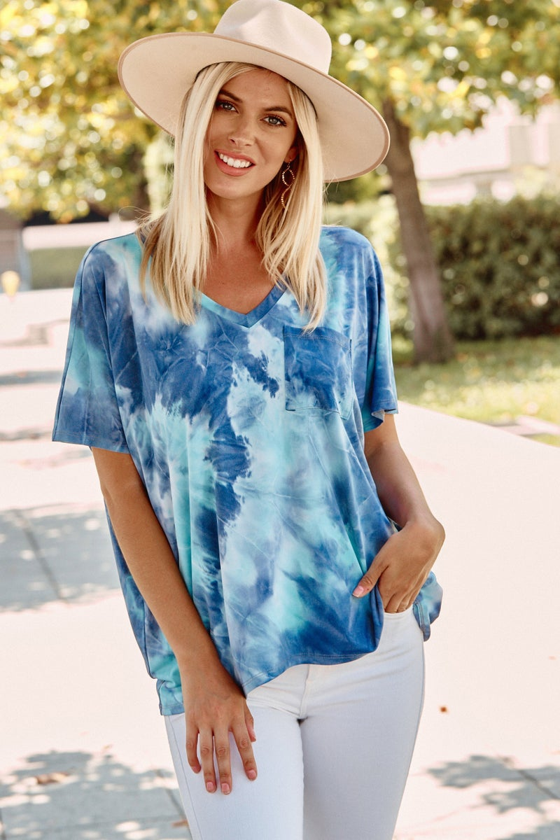 Ombre Tie Dye Relaxed Pocket Top - LIMITED STOCK!