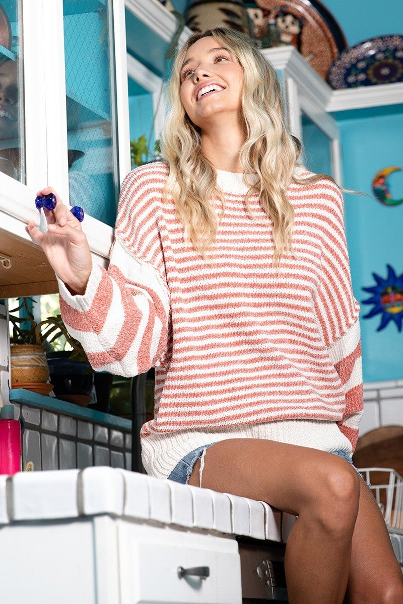 Charli Chenille Striped Sweater - LIMITED!