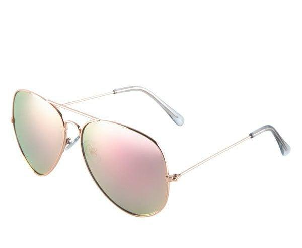 Mirrored Pink Lens Aviator Sunglasses *Final Sale*