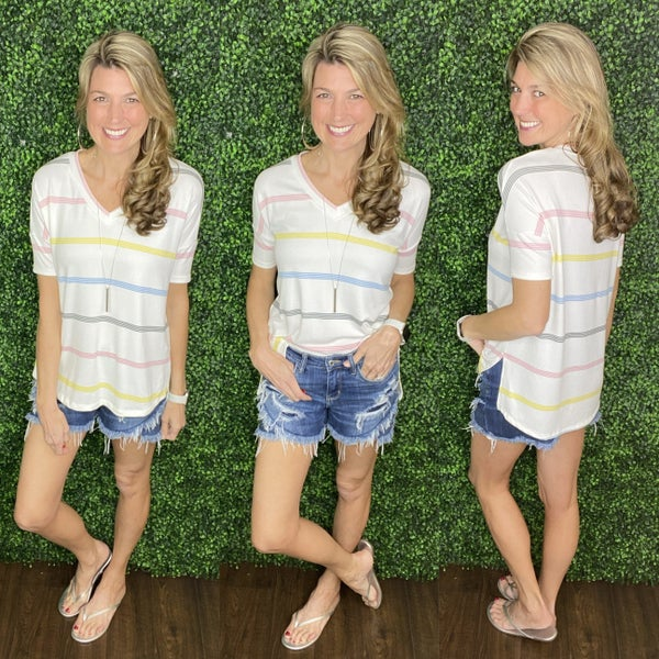Sweet On Stripes Top