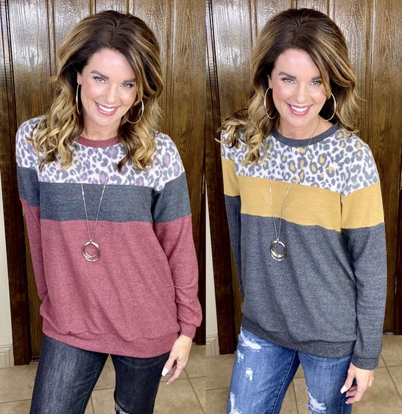 Wild Colorblock Soft Pullover