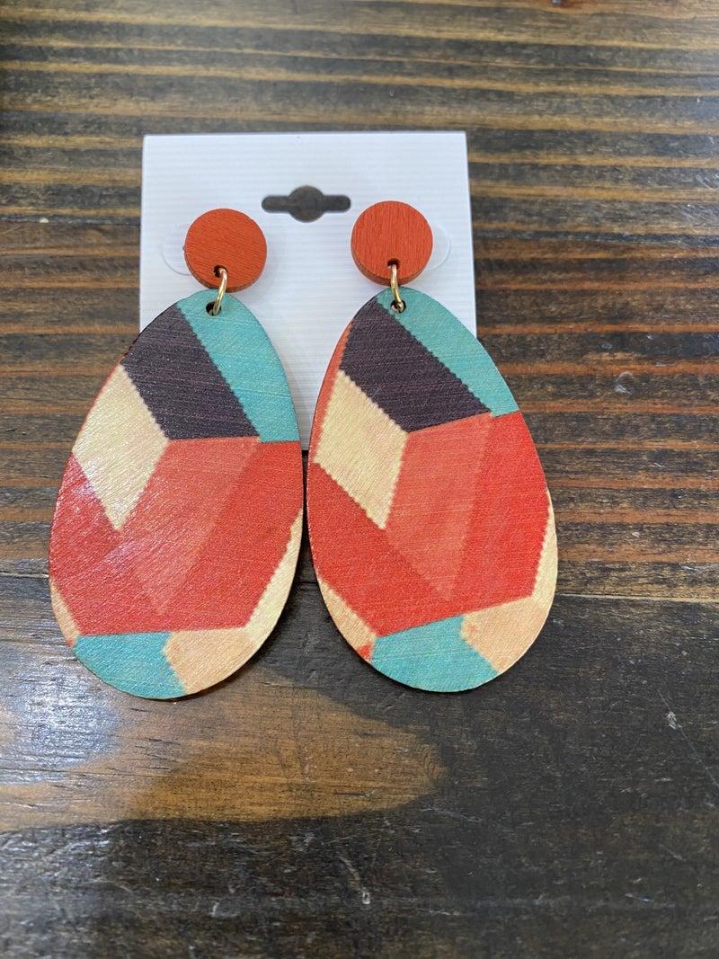 Wooden Boho Earrings