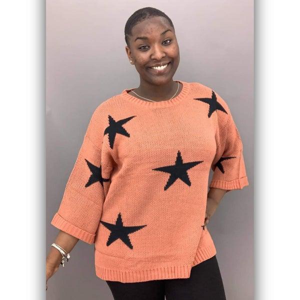 Callaway Star Sweater- Rust