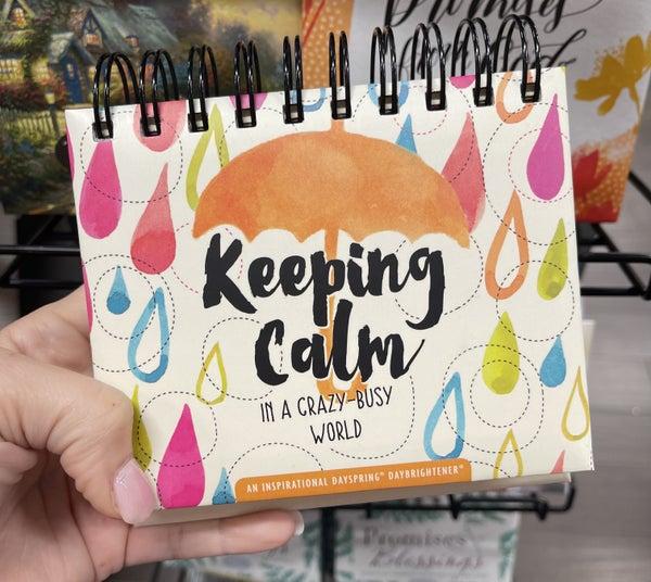 Inspirational calendar - keeping calm