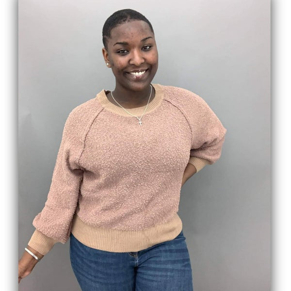 Sasha Puff Sleeve Sweater-Tan