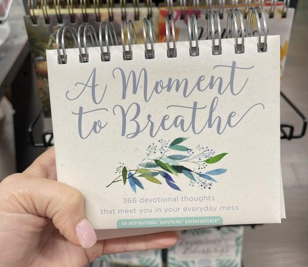 Inspirational calendar - A moment to breathe
