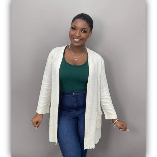 Linen Frayed Jacket