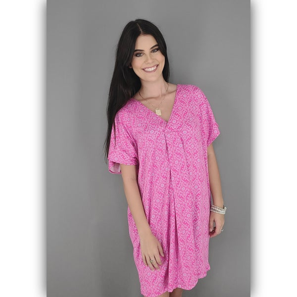 Sail Away Dress- Pink