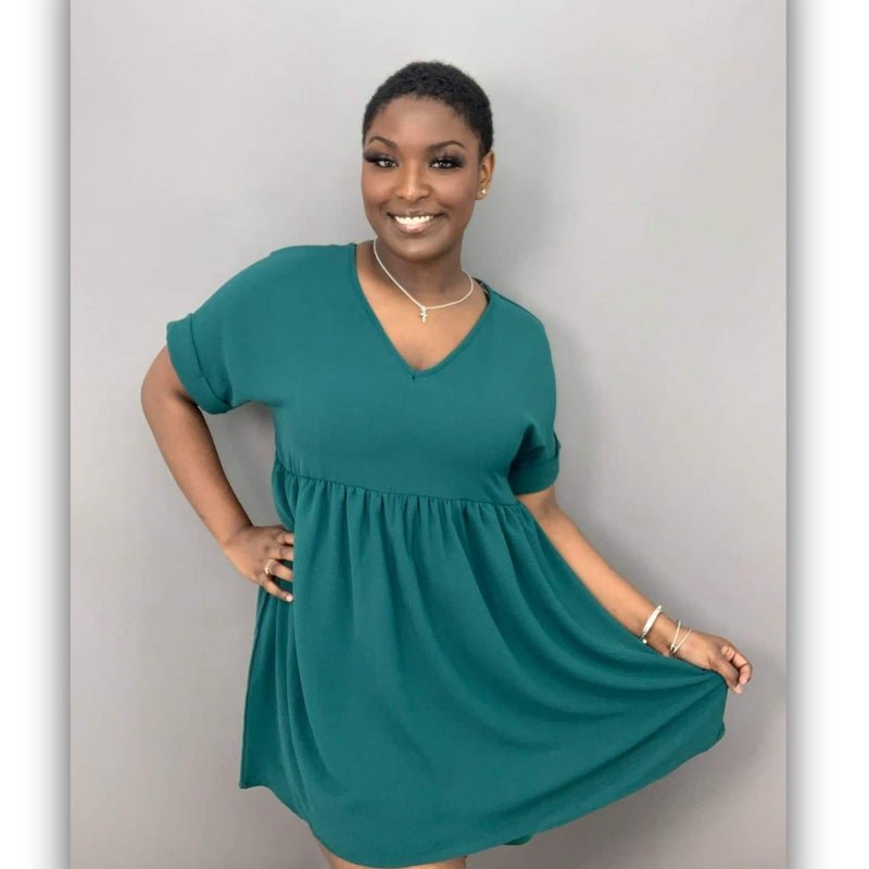 Deedee babydoll dress - green