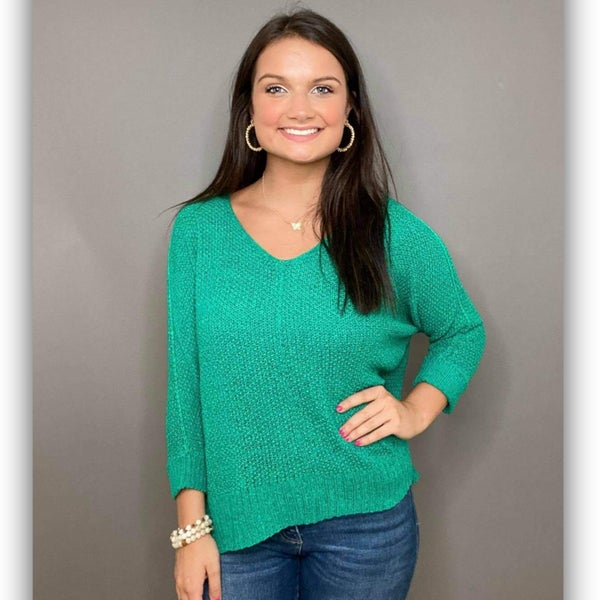 Layla Green Knit Top